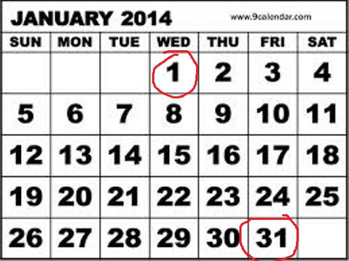 January 2014 marked
