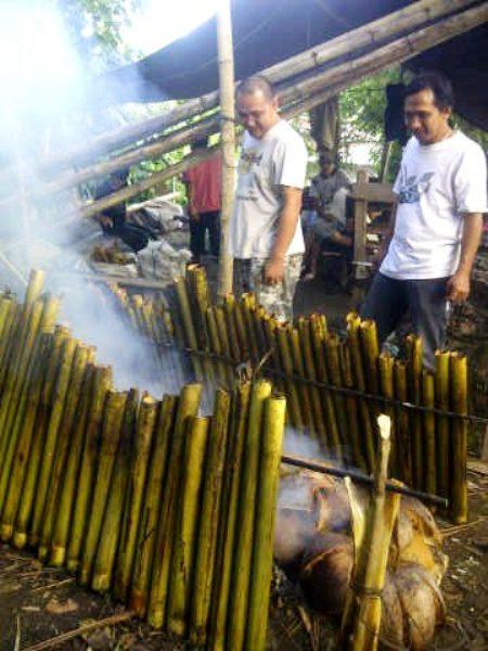 cooking nasi jaha