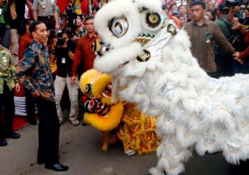 Jokowi di Bogor Street Festival Cap Go Meh