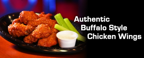 Authentic buffalo wings from Franks for the memories