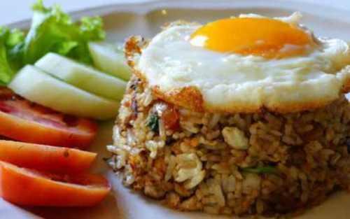 nasi goreng telur detik food